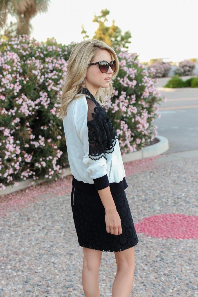 black and white jacket - jacket and dress