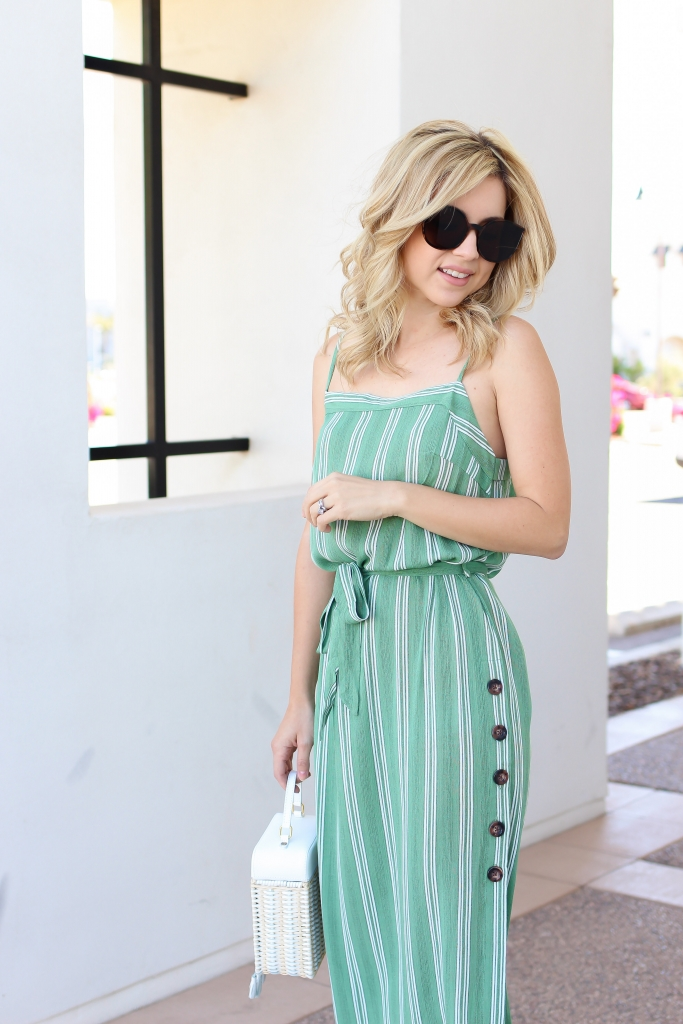 midi dress - stripe dress - amazon fashion