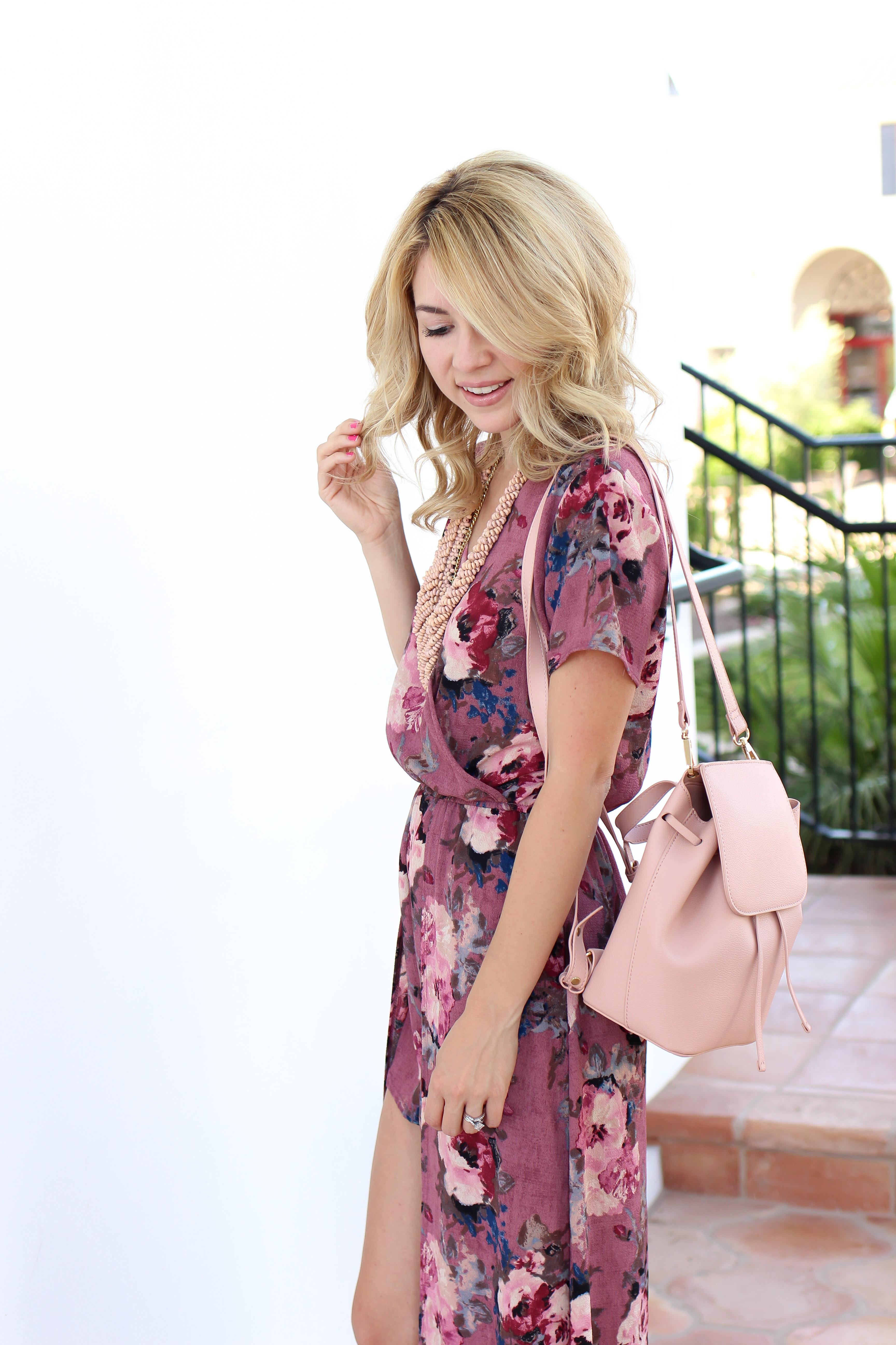 backpack - floral romper