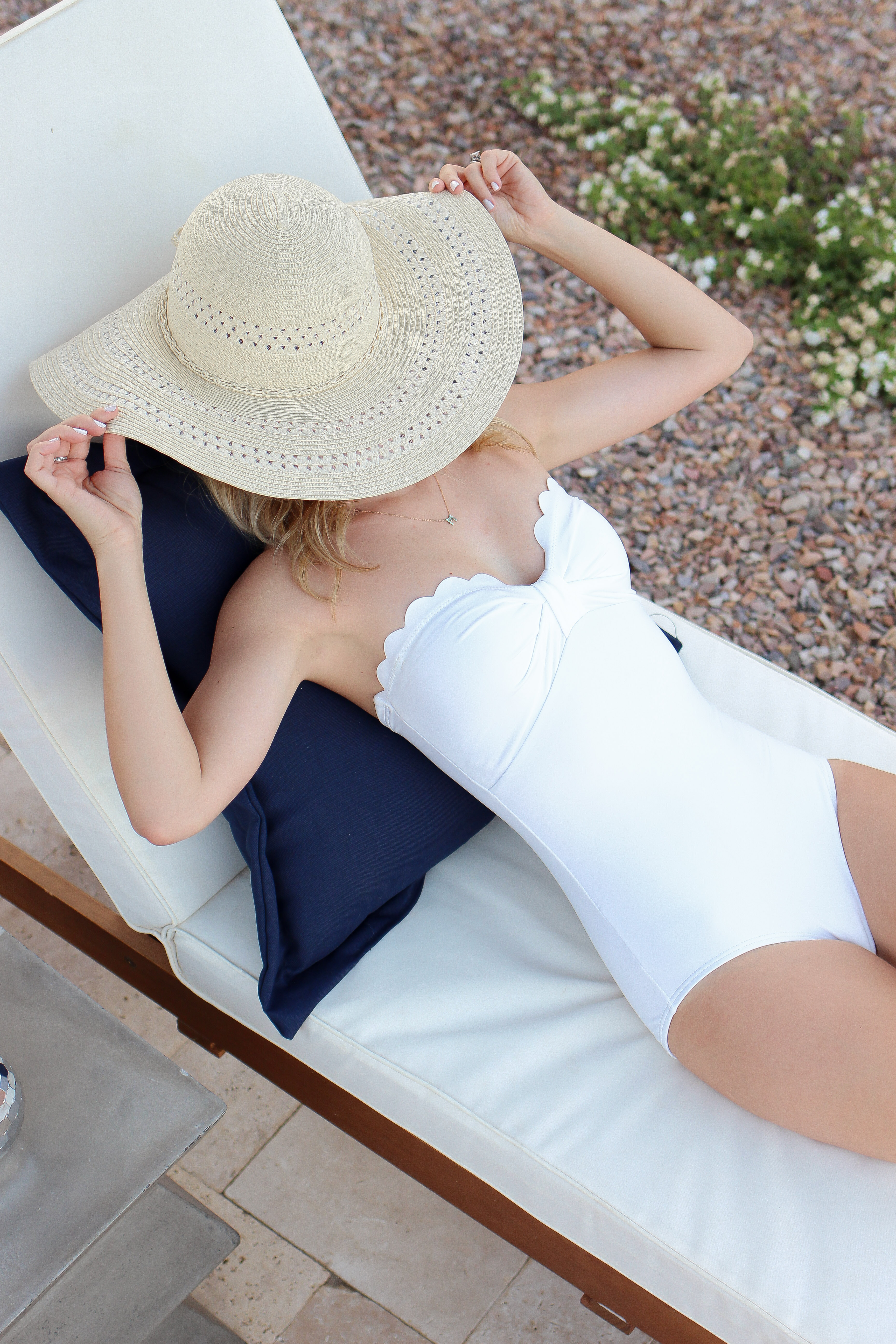 white scallop one piece - swimwear - kate spade swimwear