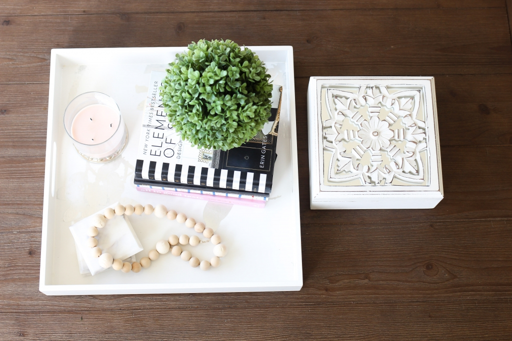 coffee table decor - coffee table - wooden bead style