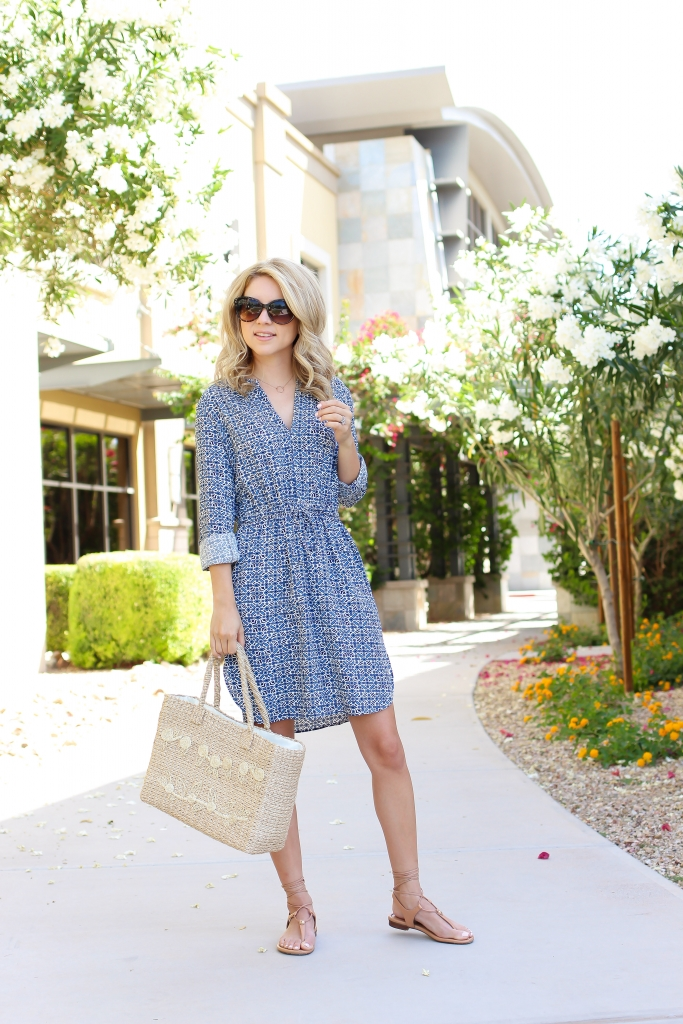Mosaic print dress - shirt dress - casual summer dress - Greece