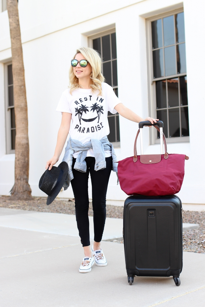 Long champ tote - luggage - travel - airport style