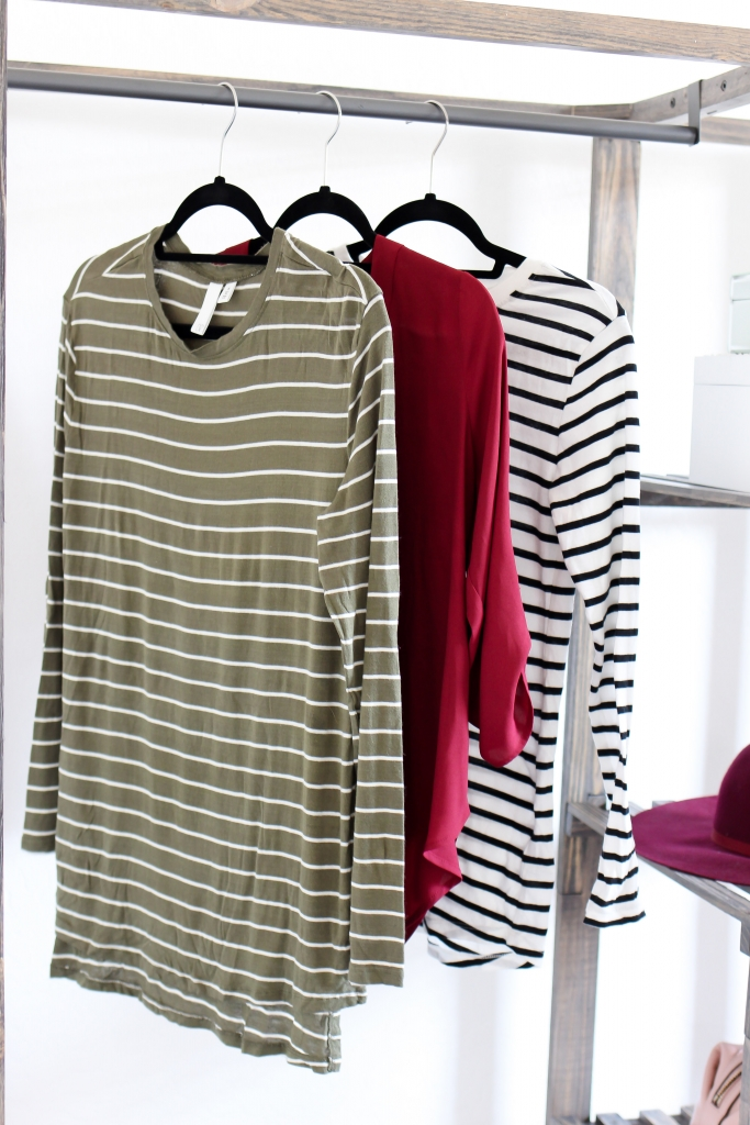 fall shirts - stripe shirts - fall outfit