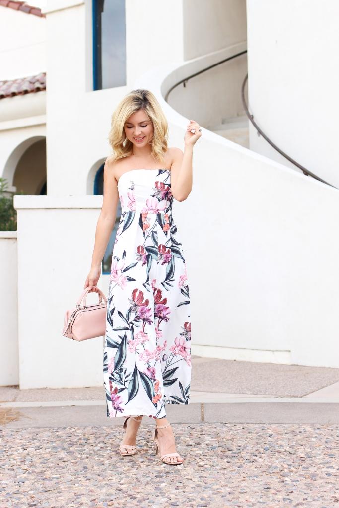 floral jumpsuit - jumpsuit - red dress boutique