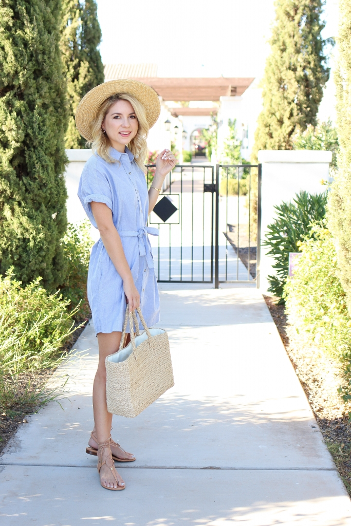 Simply Sutter - summer style - summer outfit - blue shirt dress - shirt dresses