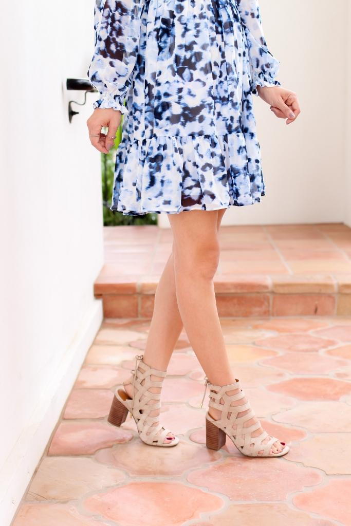 Simply Sutter - Ruffle Dress - Nordstrom - Nude heels