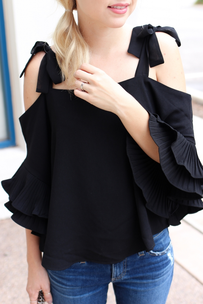 Simply Sutter - Ruffle top - bow top - side pony - ruffles
