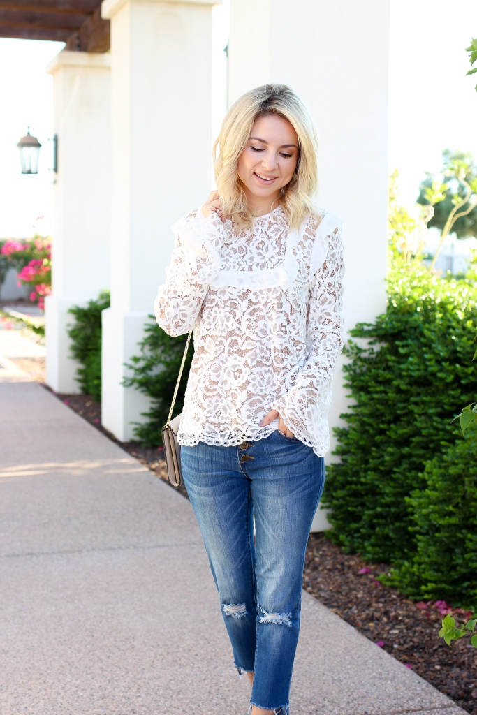 Simply Sutter - Date Night outfit - lace blouse