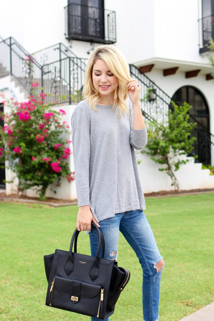 Simply Sutter - Fall Outfit - velvet - grey sweater