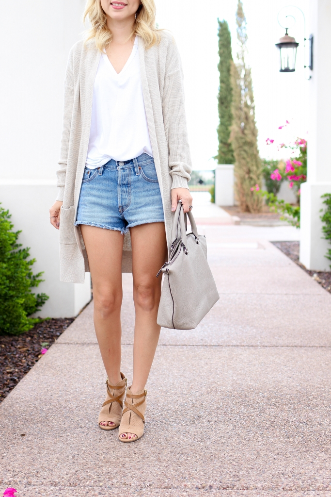 Simply Sutter - fall look - denim shorts outfit - fall transition look - fall fashion