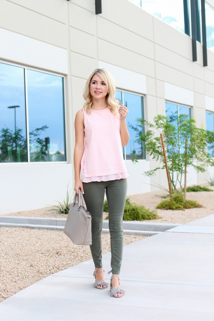 Simply Sutter - Loft - Tory Burch - How to wear pink
