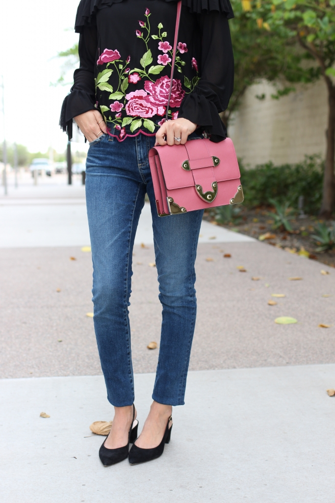 Simply Sutter - pink bag - denim style - fall outfit