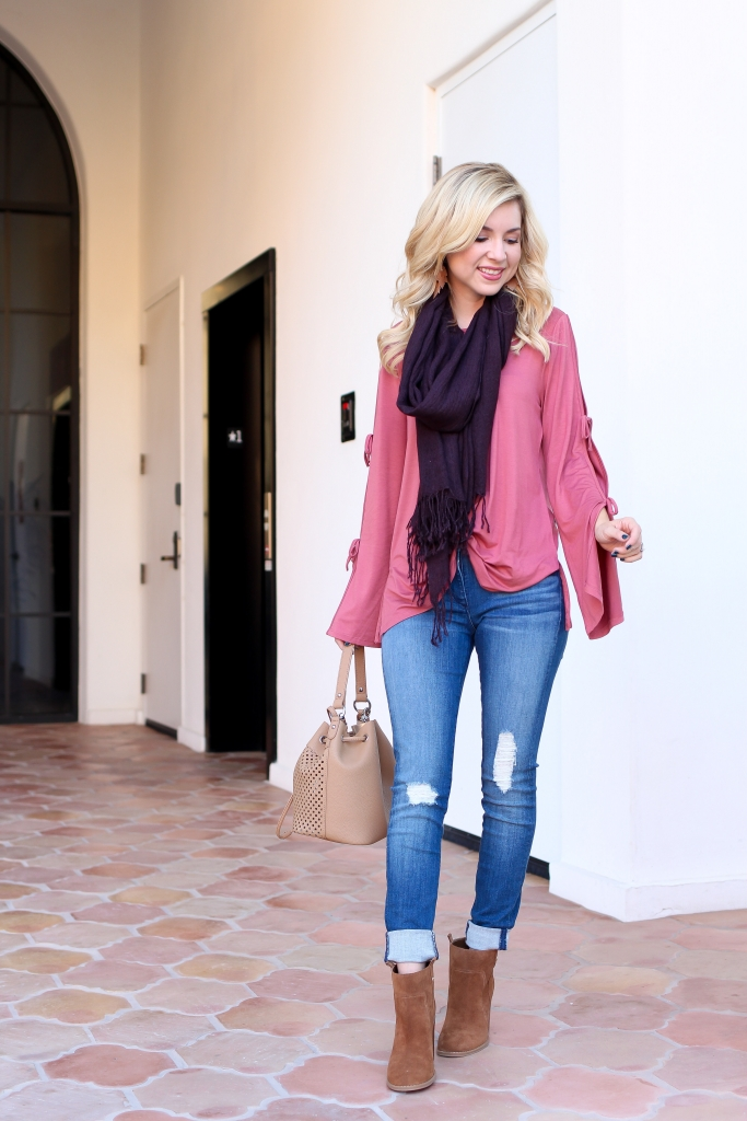 Simply Sutter - Fall Fashion - Monic Sutter - Denim outfit - scarf outfit - Arizona Mills