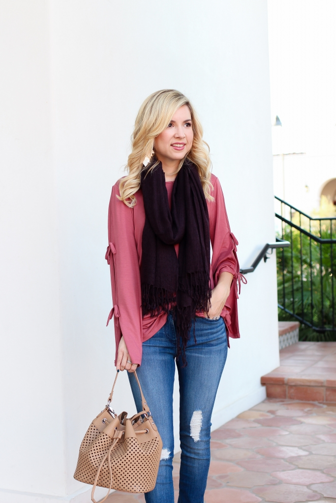 Simply Sutter - Fall style - scarf outfit - Arizona Mills - Easy Fall Outfit