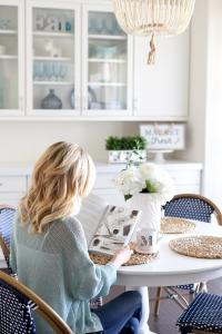Simply Sutter - Kitchen Nook - White Kitchen - Beaded chandelier