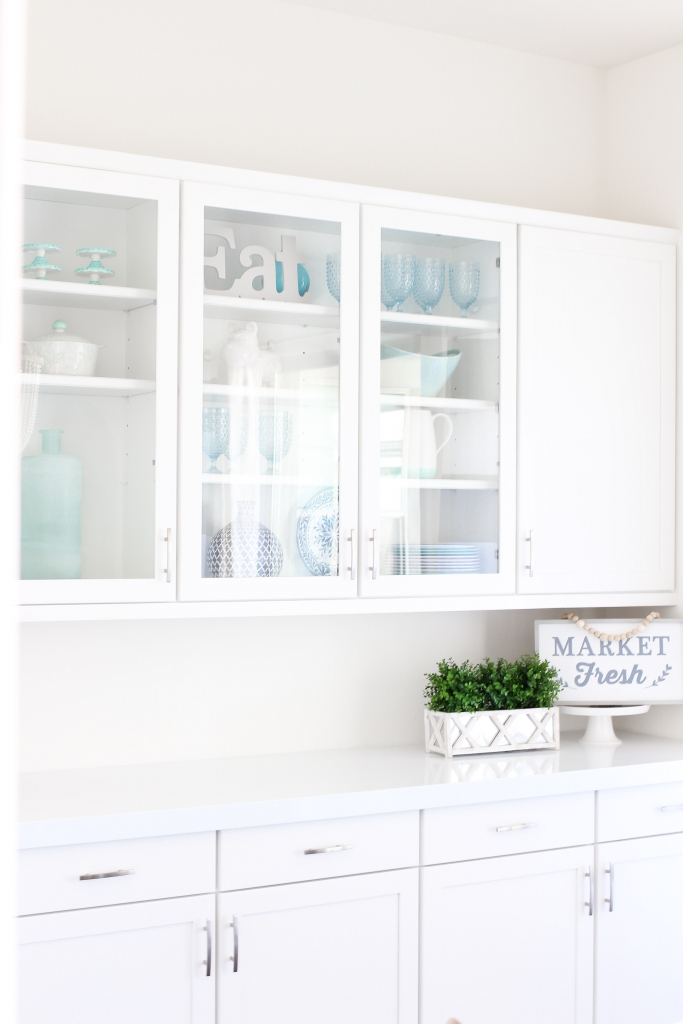 Simply Sutter - Kitchen Nook Cabinets - Blogger Home - white counters