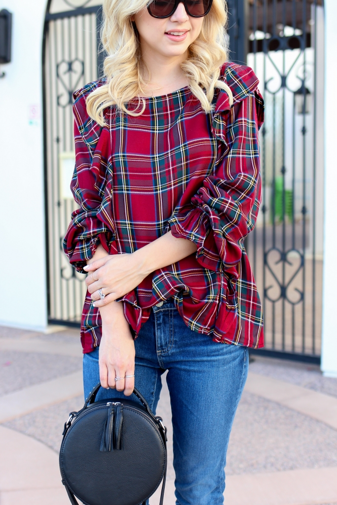 Simply Sutter - Ruffle Top - Fall Style - casual fall outfit