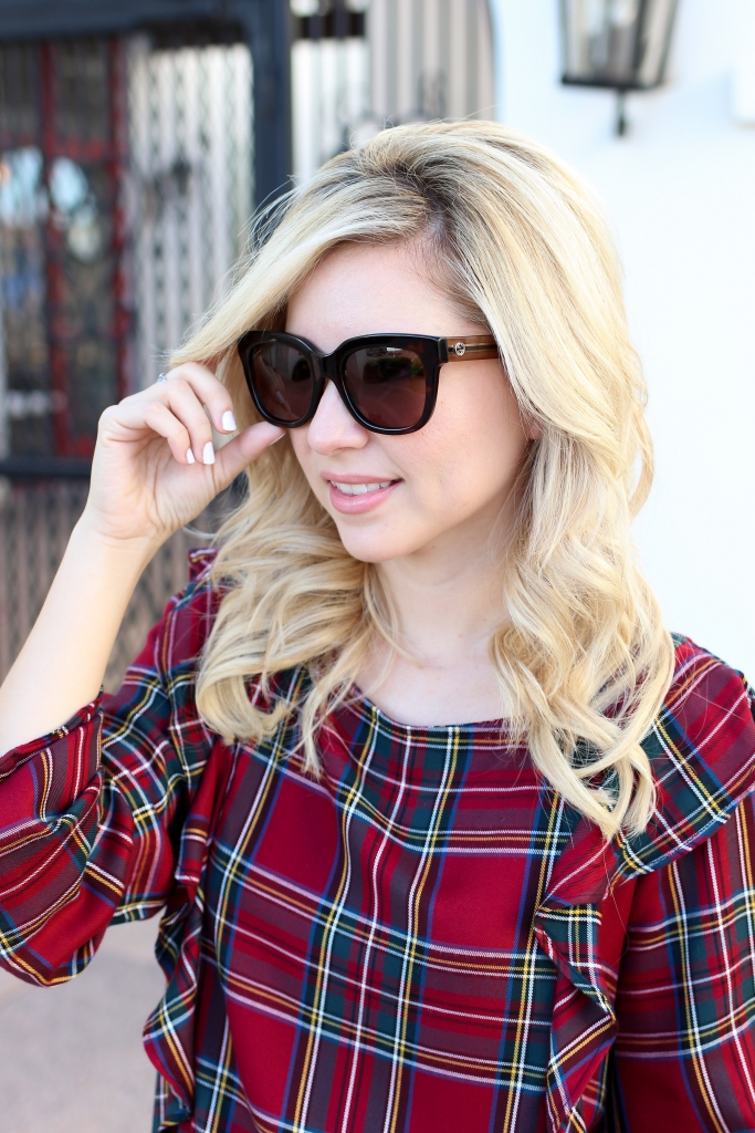 Simply Sutter - Gucci Sunglasses - Plaid Top - Fall
