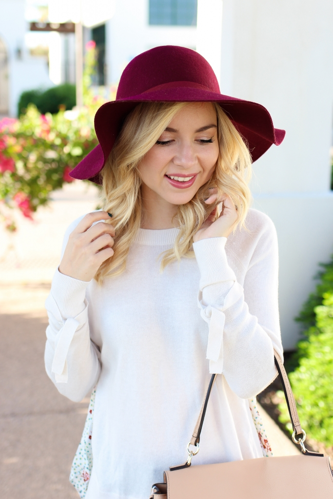 Simply Sutter - cozy bow sweater - white sweater - fall outfit