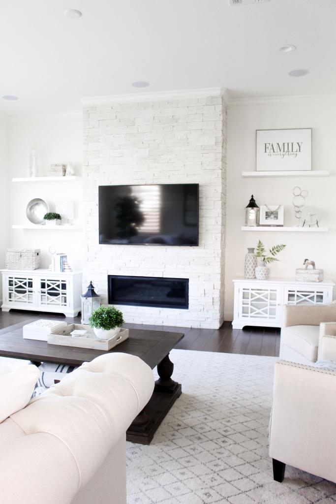 Simply Sutter - Hayneedle - Built In Shelves - shelf decor - living room