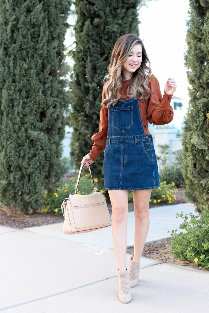 Overall Dress Outfit - Best Fall outfits