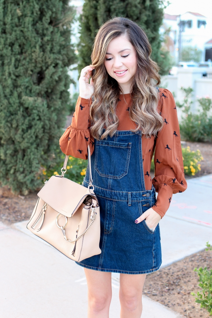 545f9d1b0 ... Simply Sutter - Overall Dress - Horse Shirt - How to style - best fall  outfits ...