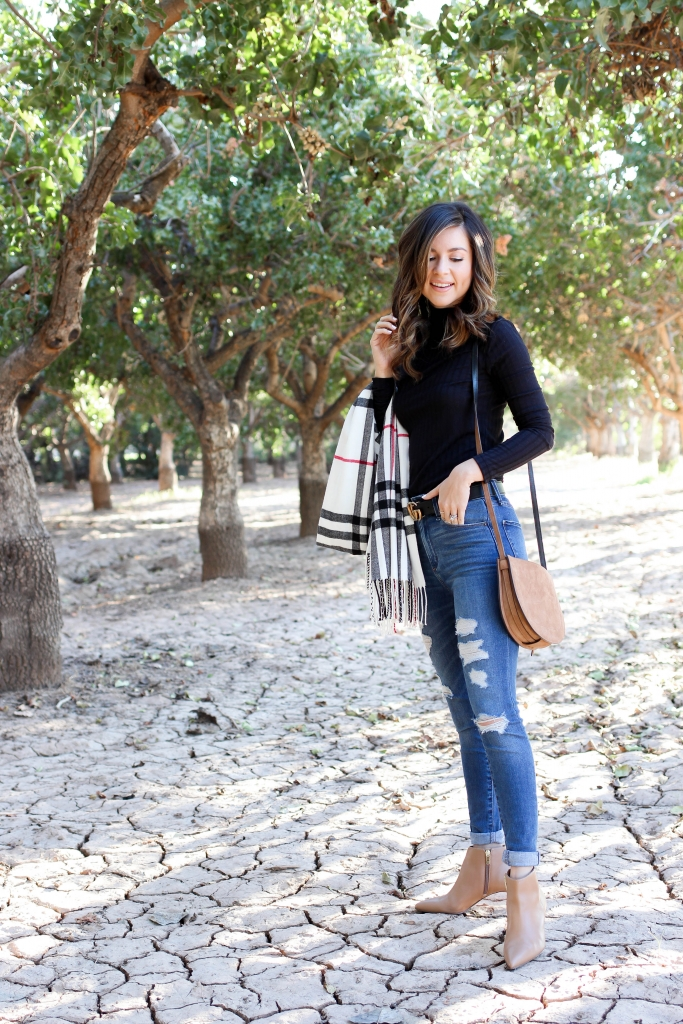fashion blogger shares 6 turtlenecks to shop under $50 to wear for winter