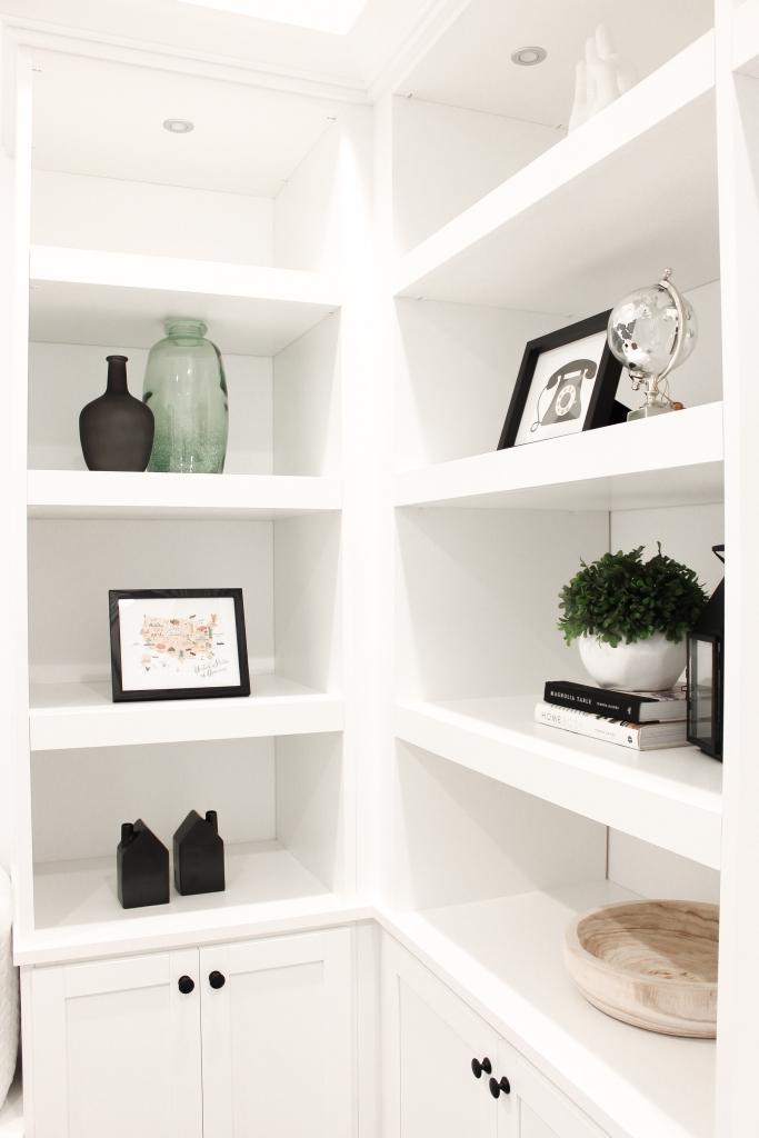 blogger home office featuring a contemporary modern farmhouse decor