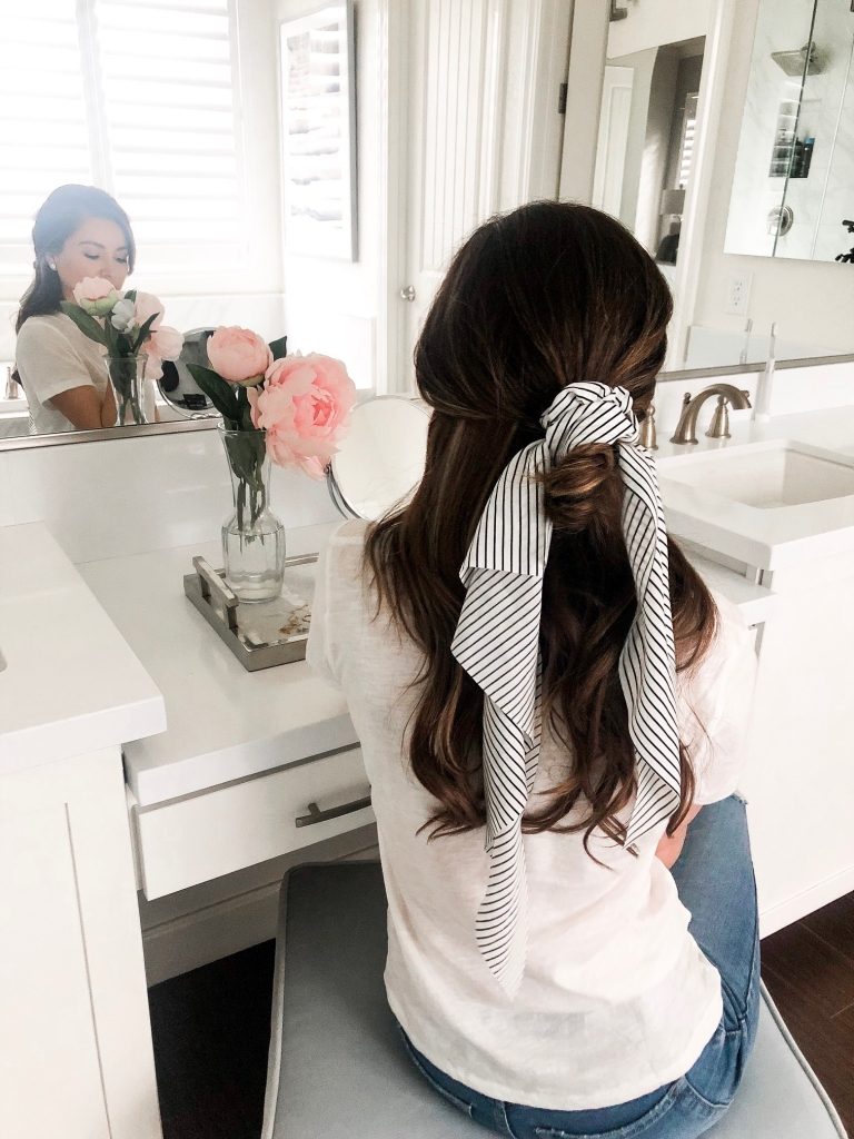 5 Easy Scrunch Scarf Hairstyles