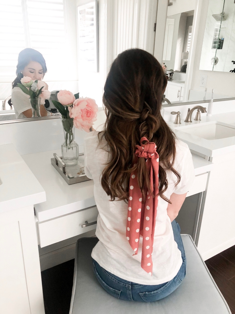 6 Easy Scrunchie Scarf Hairstyles