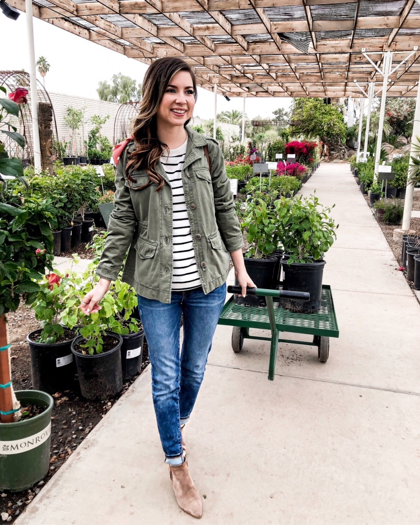 Casual Olive Green Jacket Outfits For Women