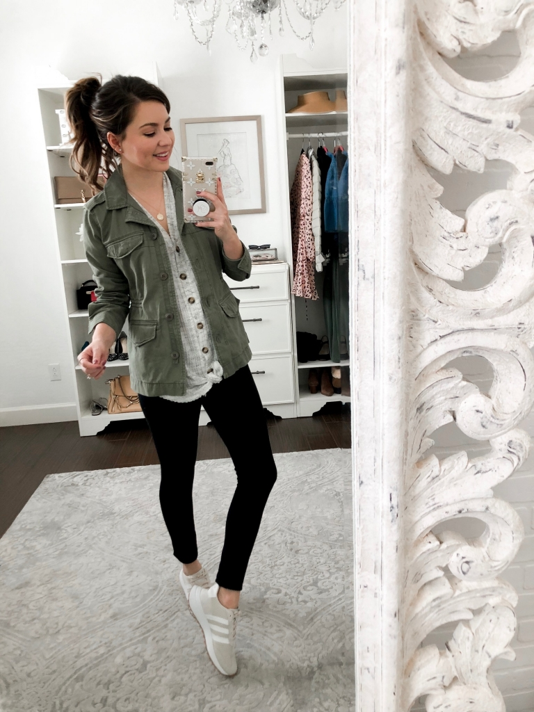 4 casual olive green jacket outfits for women