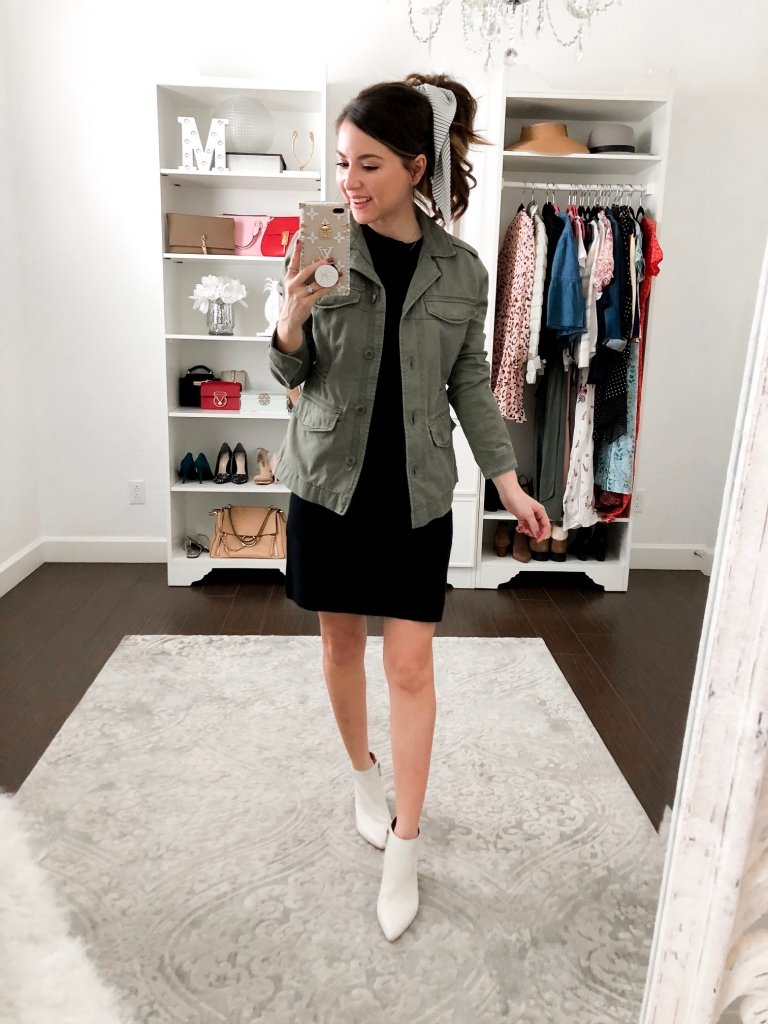 4 casual outfits to wear with an olive green jacket