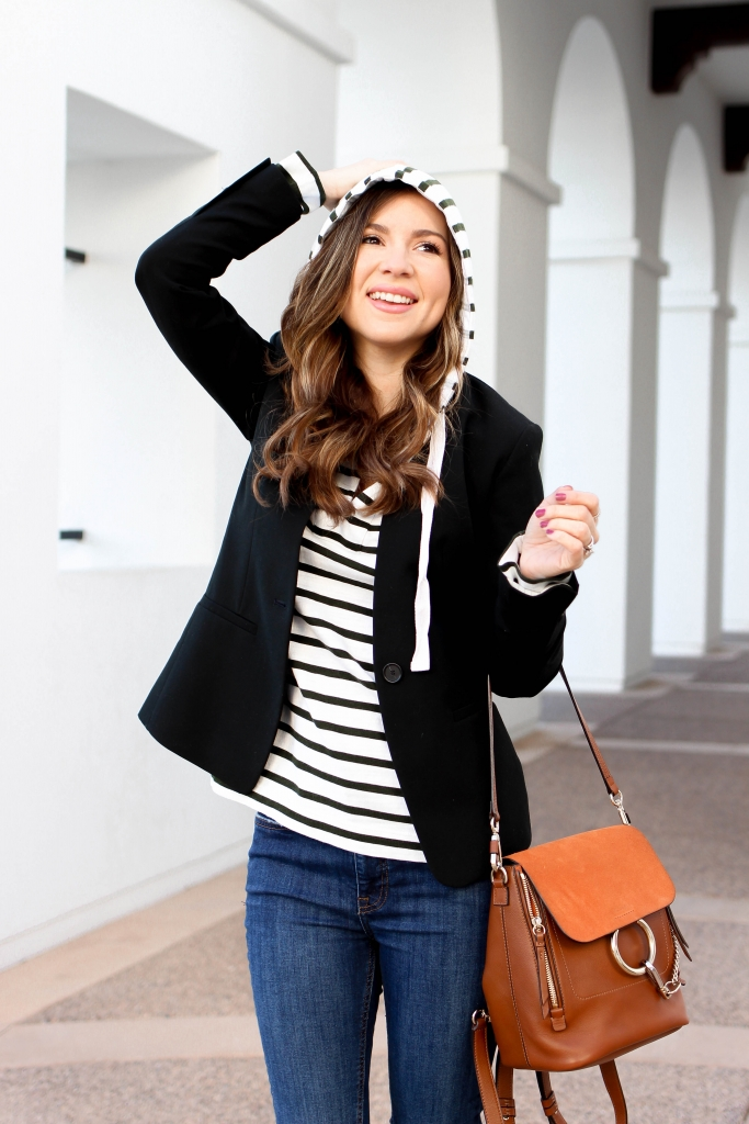 casual dressy blazer outfit