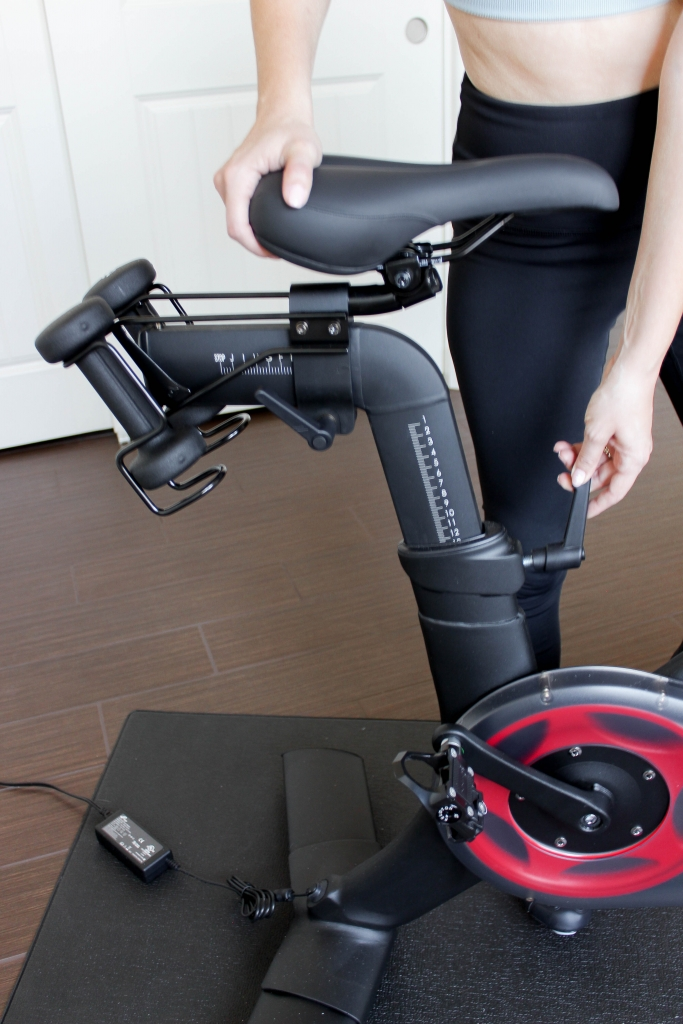At home workout with a spin bike