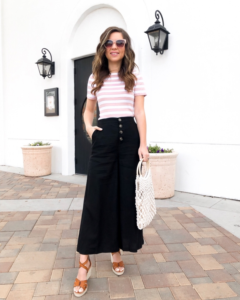 linen crop pants for summer