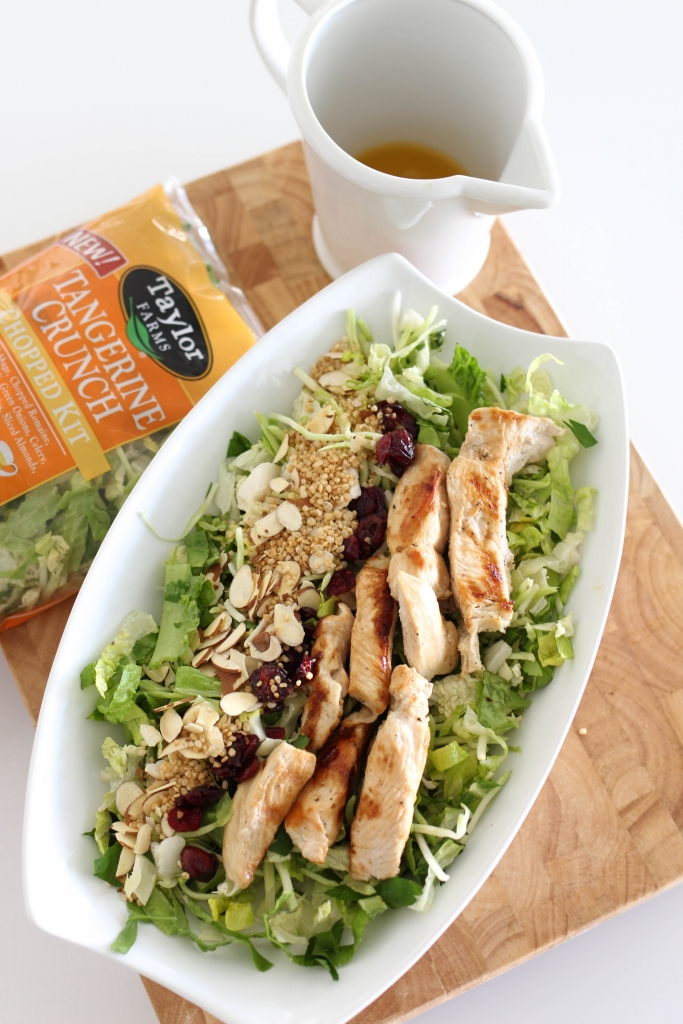Taylor farms tangerine crunch salad with lime chicken