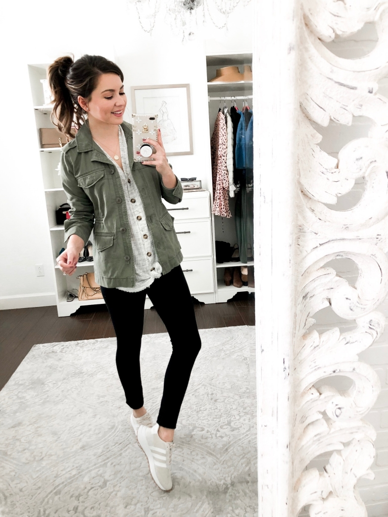 casual utility jacket outfits look