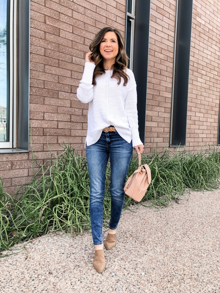 jeans and mules outfit