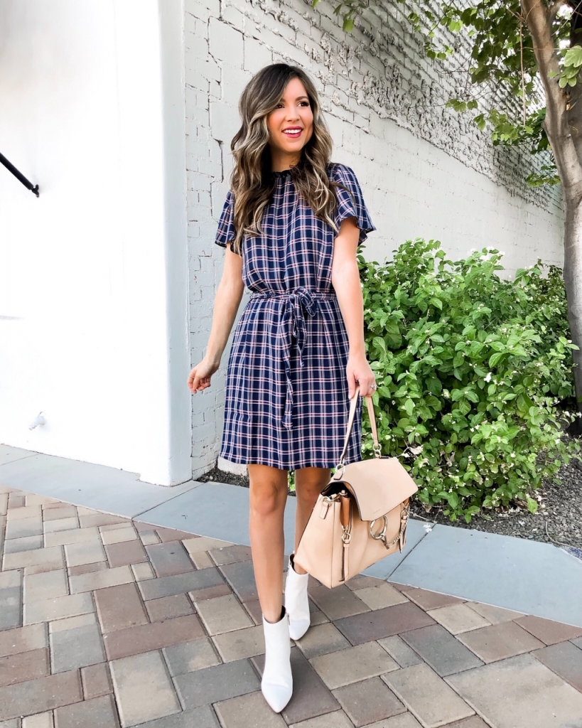 plaid dress for fall and winter