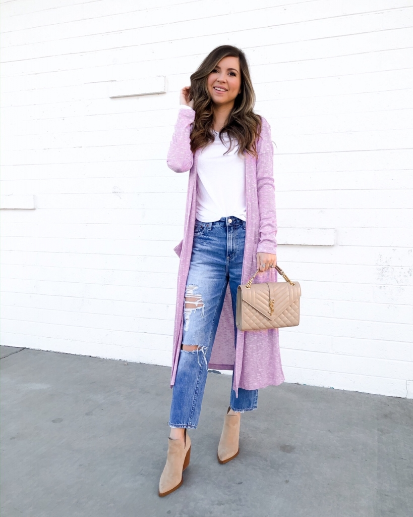 lavender outfit