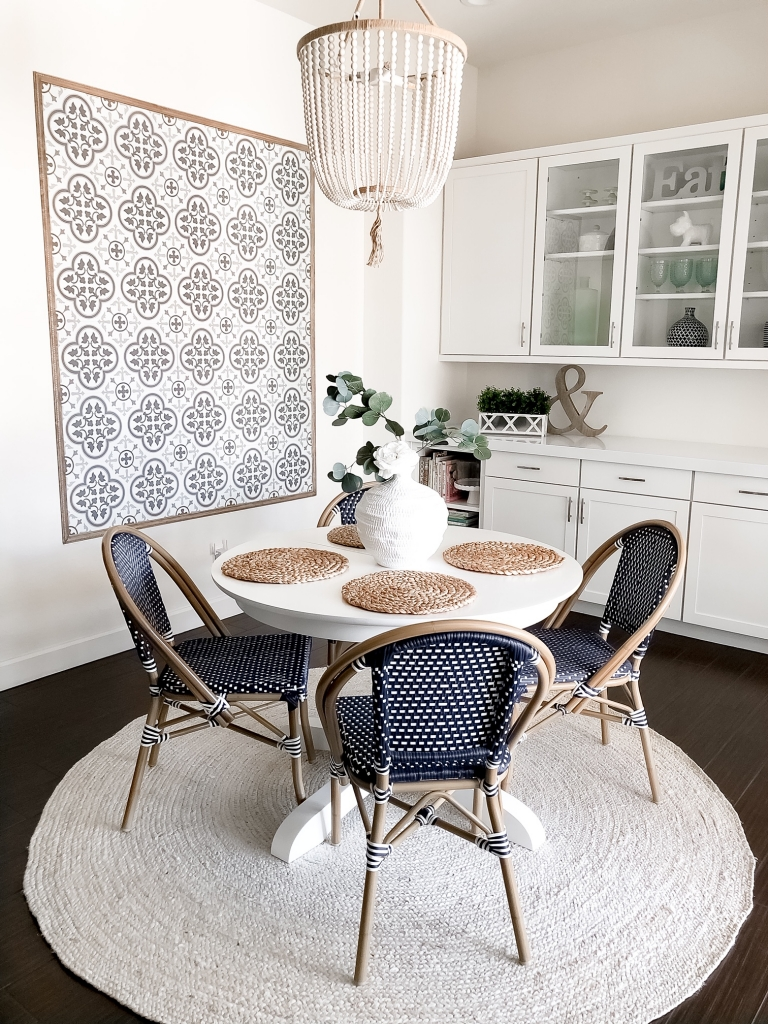 tile wall breakfast nook
