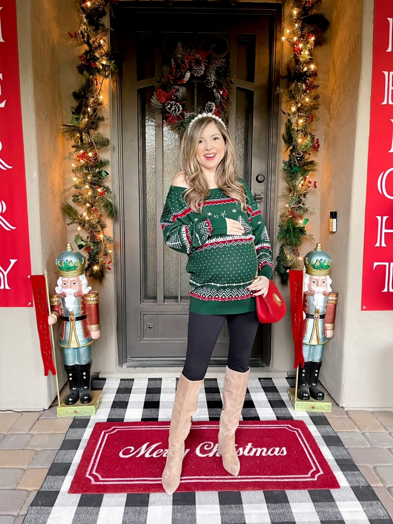 holiday sweater outfit