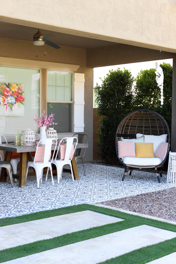 spring outdoor patio decor