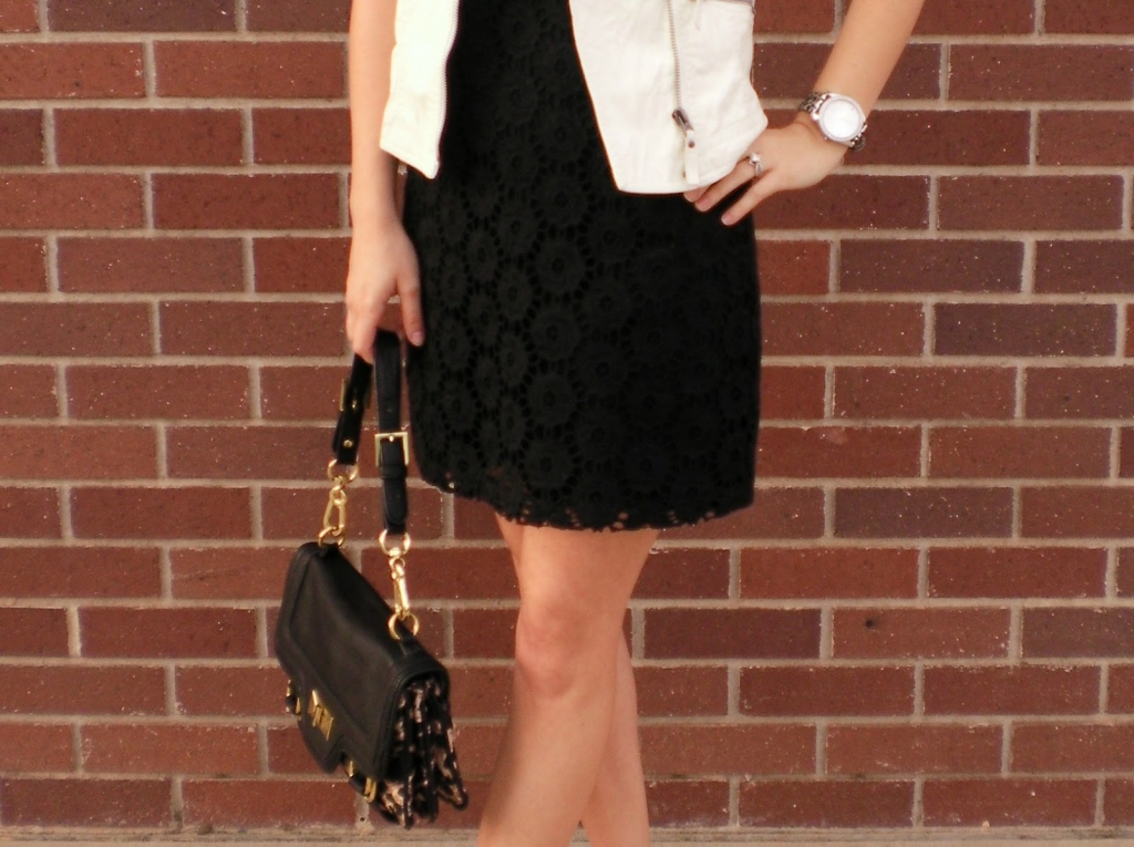 b&w, lace, leather, vest, rachel zoe, spring