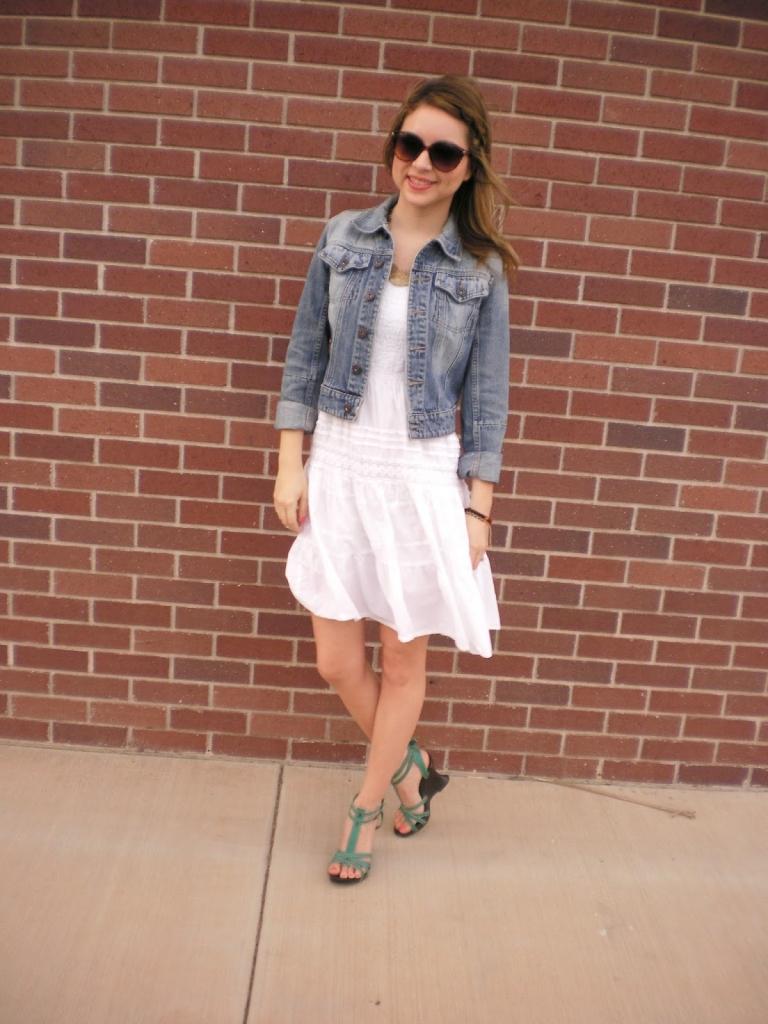 Outfit, cotton dress, denim