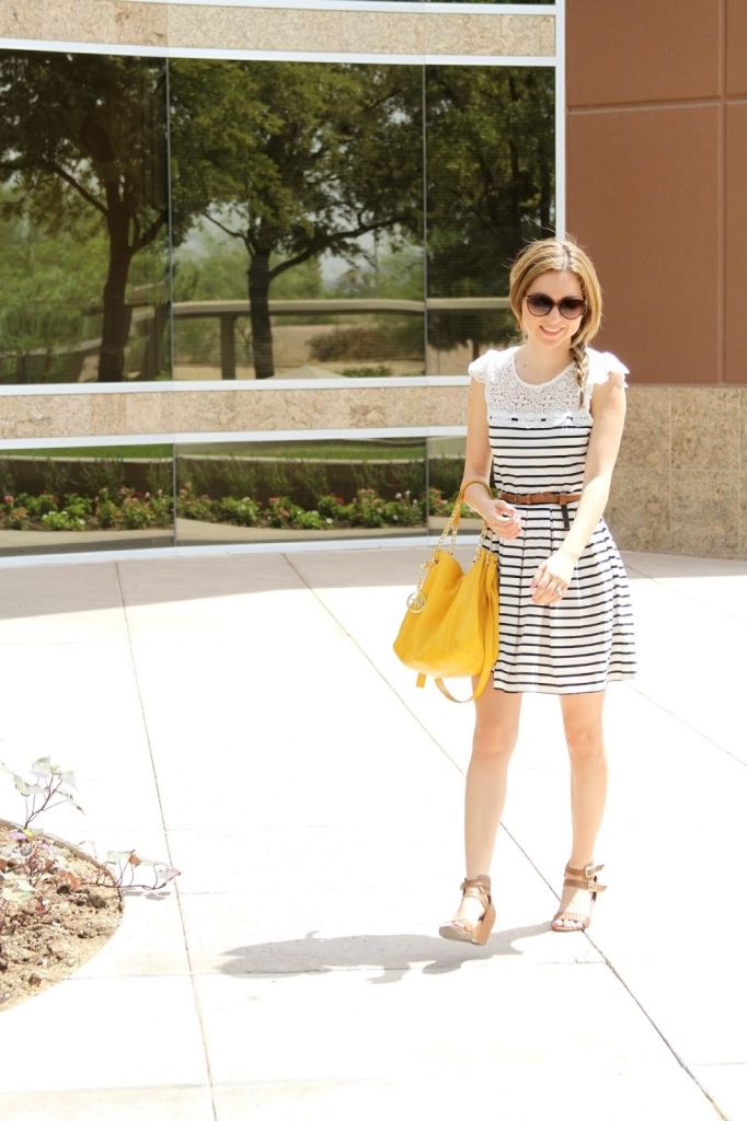 spotted moth , stripe dress