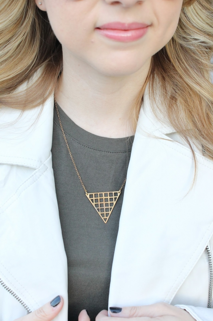 geo necklace