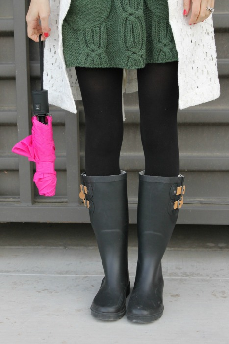 Chooka Rain Boots, Winter Style, Giveaway, Outfit